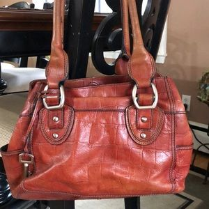 Fossil leather satchel 💼